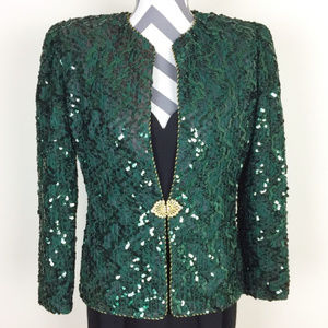 Karen Lawrence by Matthew Green Sequin Blazer Sz 8